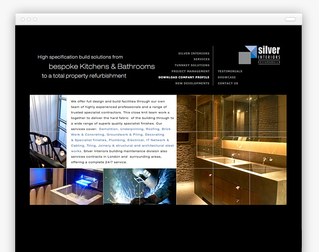 Silver Interiors - Site Page