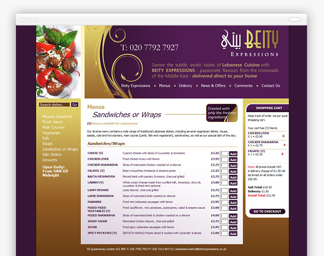 Beity Expressions - Website (internal view)