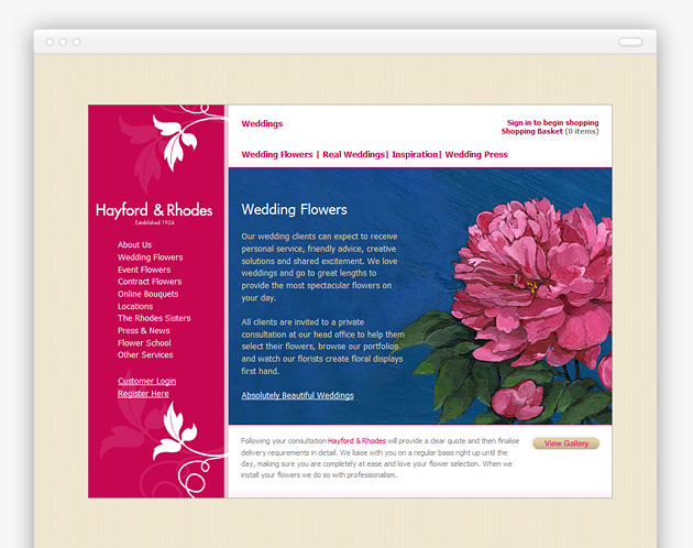 Hayford and Rhodes - Ecommerce Florist