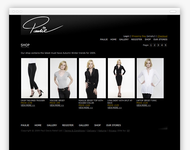 Paulie - Website (internal view)