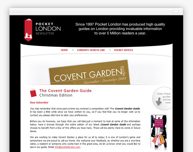Pocket London - Newsletter