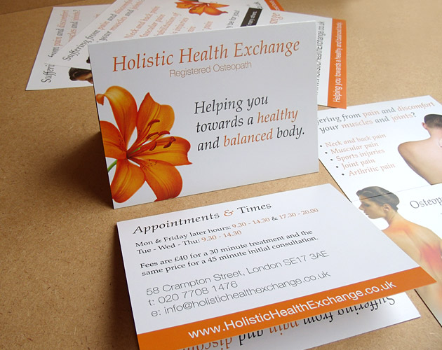 Holistic Health Exchange - Printed Marketing
