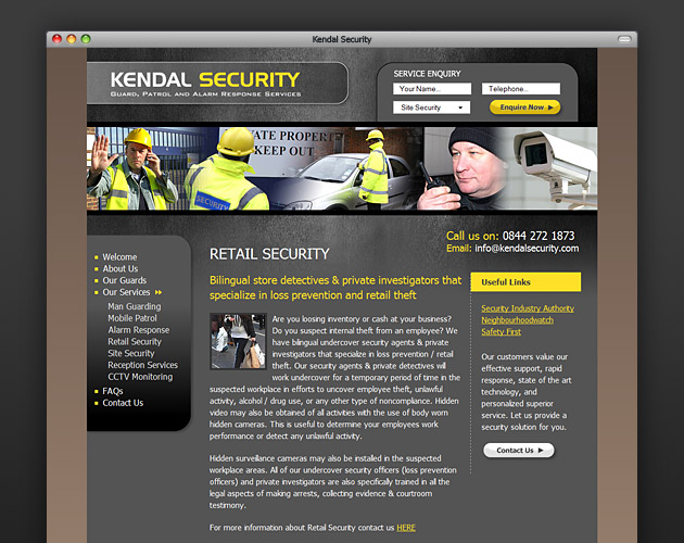 Kendal Security - Retail Security page