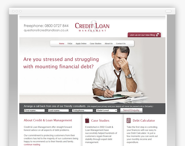 Credit and Loan Management - Animated home page