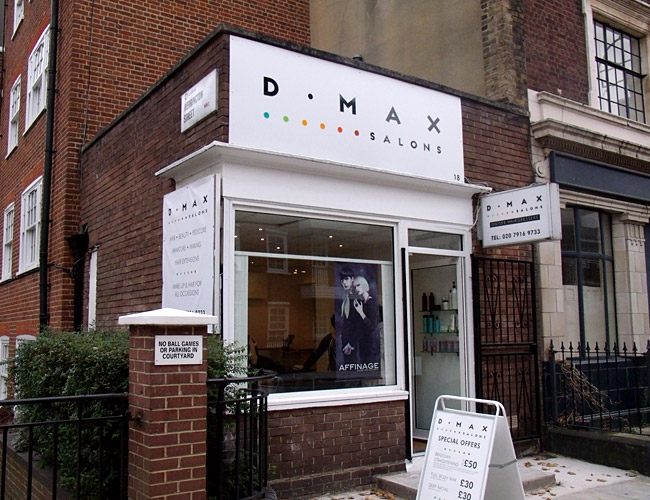 D max salons identity design big web company for Exterior design for shops