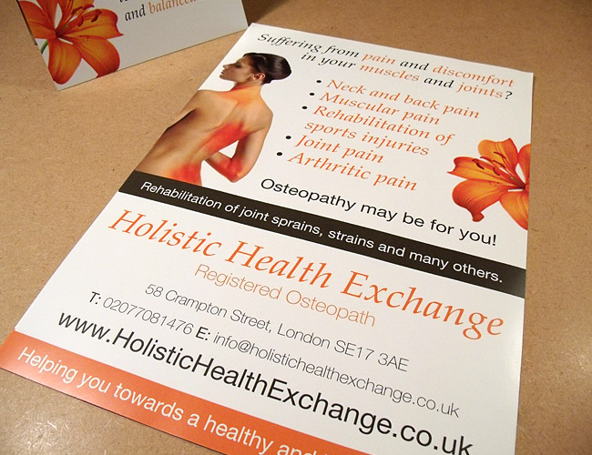 Holistic Health Exchange - A4 Flyer