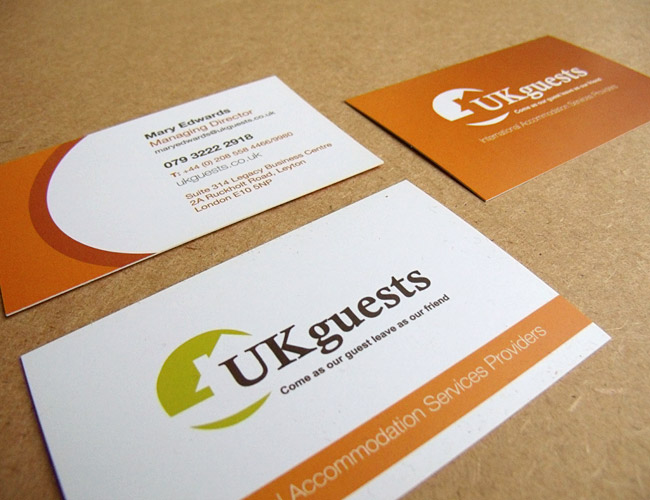 UKguests - Business Card Design