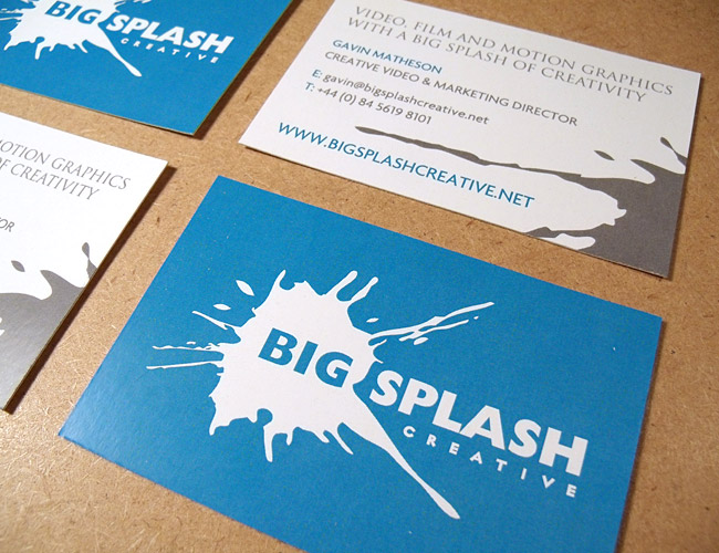 Big Splash Creative - Business Card Design