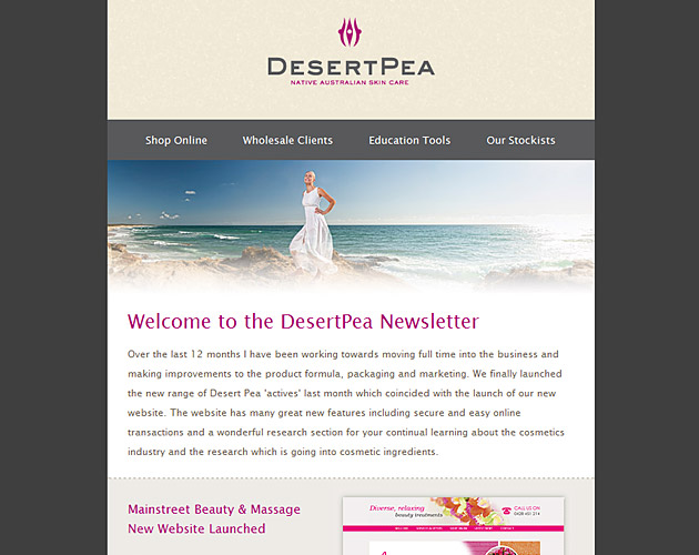 DesertPea Newsletter template Design