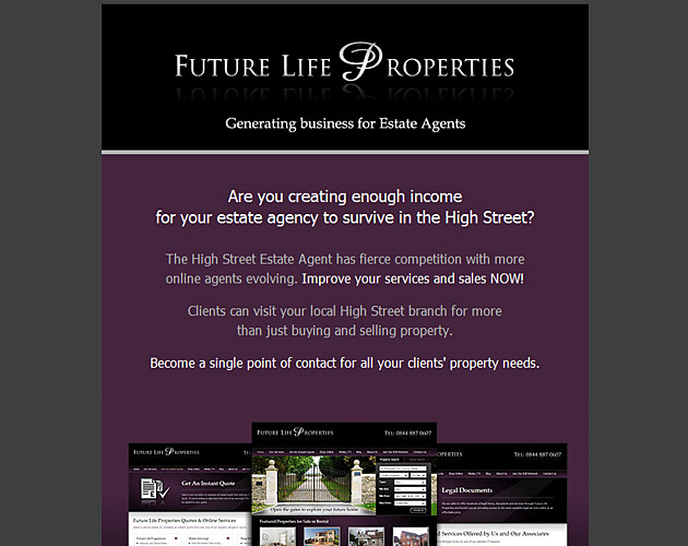 Future Life Properties e-shot template design