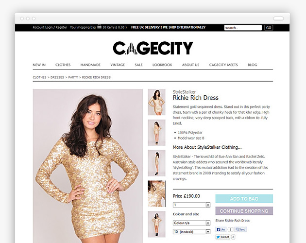 Cagecity - Details Page