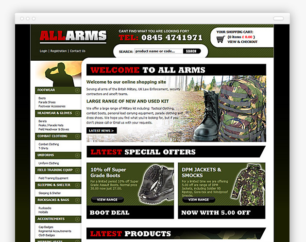 All Arms - Military and RAF Online Store