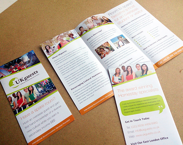 UKguests - Leaflet Design