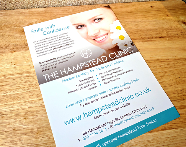 Hampstead Clinic - A4 Marketing Leaflet