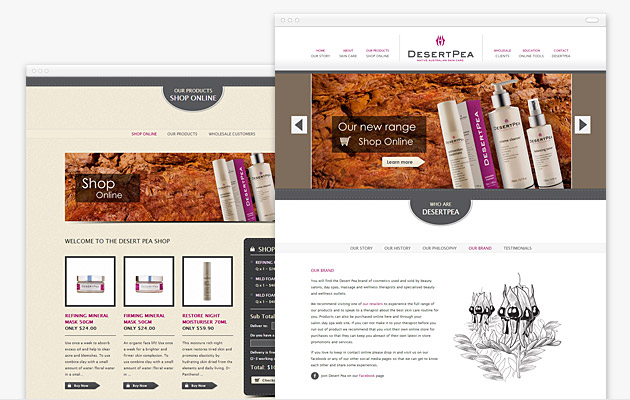 Desertpea ecommerce website design