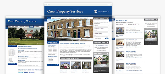 Web design and creation for letting agents