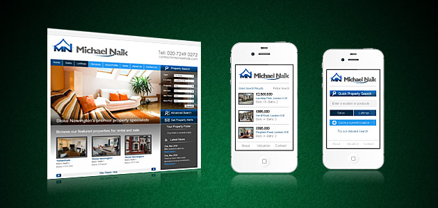 Mobile website design for the property industry