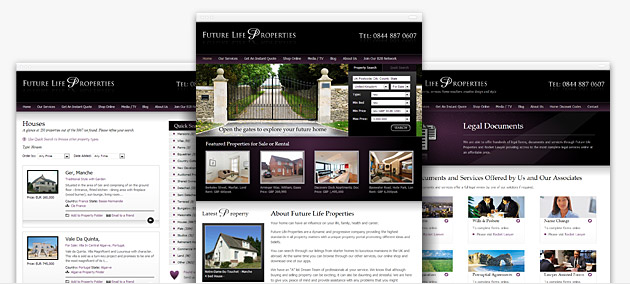 Estate agent website design and property industry web design services