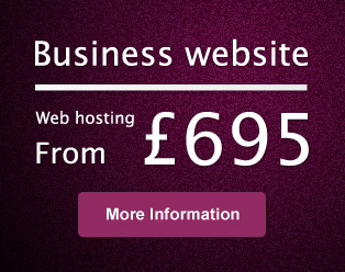 Small business website prices from only £695